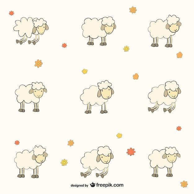 Wzór owce Darmowych Wektorów