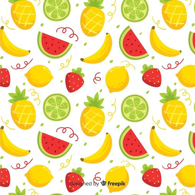 Wzór owoców tropikalnych Darmowych Wektorów