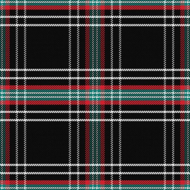 Wzór Szkocka Kratę Czarny Premium Wektorów