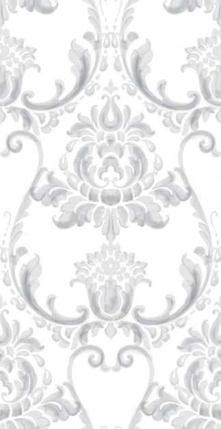 Wzór Tekstury Rokoko Premium Wektorów