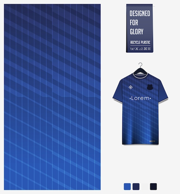 Wzór Tkaniny Sportowej Na Koszulkę Piłkarską. Abstrakcyjne Tło. Premium Wektorów
