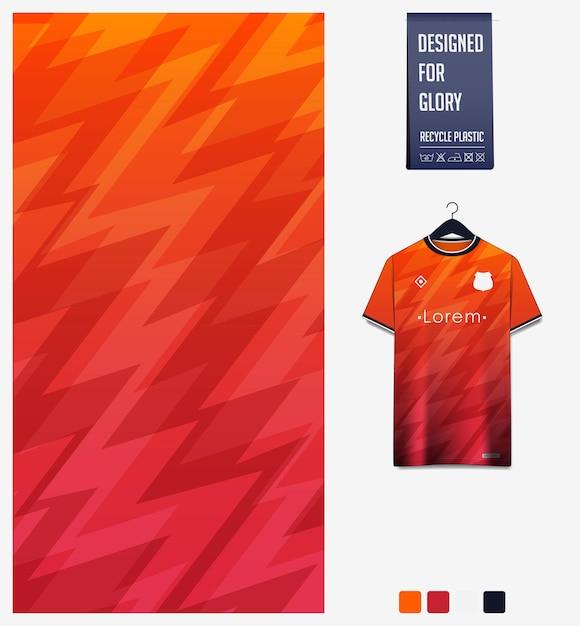 Wzór Tkaniny Sportowej Na Koszulkę Piłkarską. Thuder Abstrakcyjne Tło. Premium Wektorów