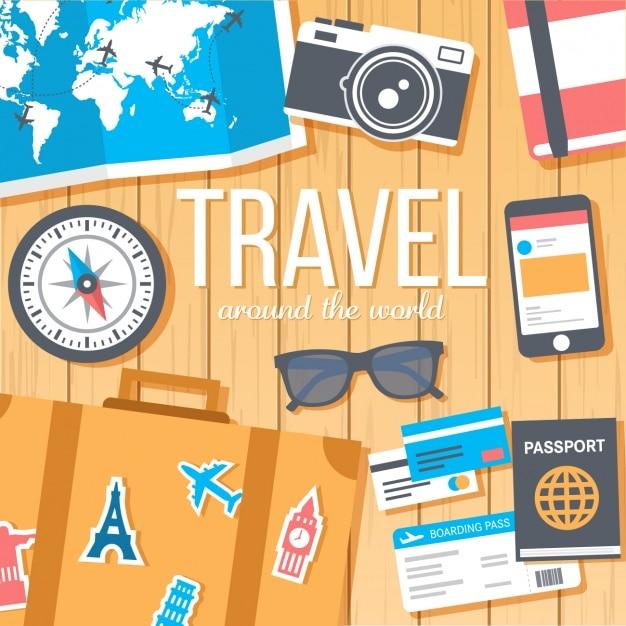 Wzór Tła Travel Darmowych Wektorów
