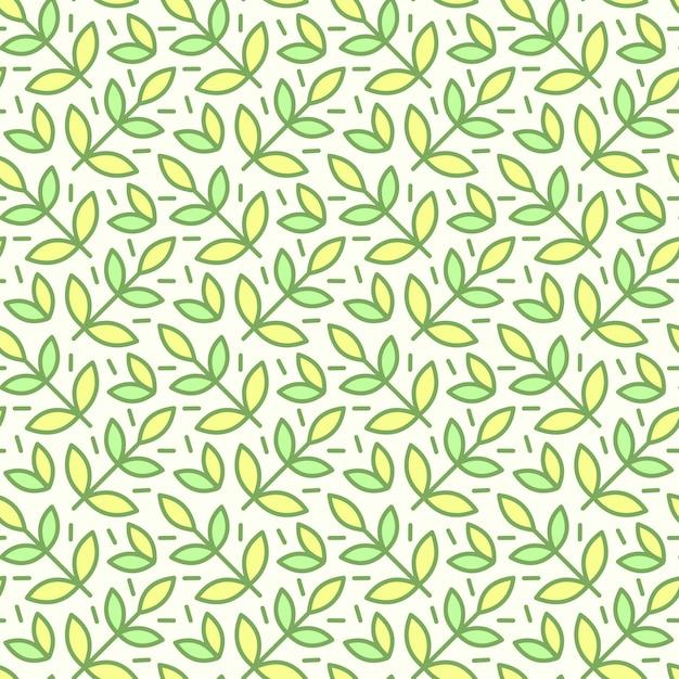 Wzór, tło z ręcznie rysowane słodkie owady, kwiaty, liście Darmowych Wektorów