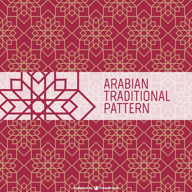 Wzór tradycyjnych arabskich Darmowych Wektorów