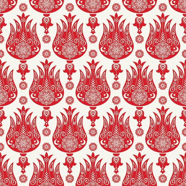 Wzór turecki tulipan Darmowych Wektorów