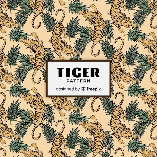 Wzór tygrysa Darmowych Wektorów