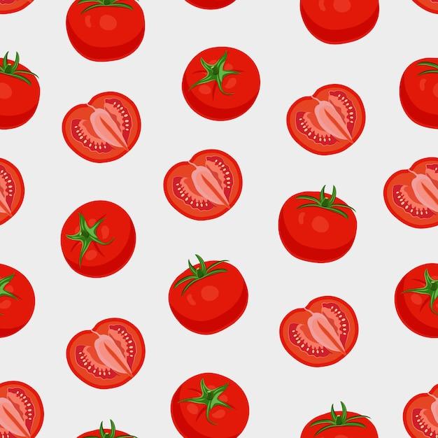 Wzór warzywa pomidorowe Premium Wektorów