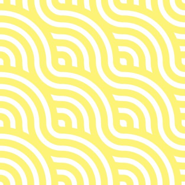 Wzór Z Makaronem. żółte Fale. Faliste Tło. Ilustracja. Premium Wektorów
