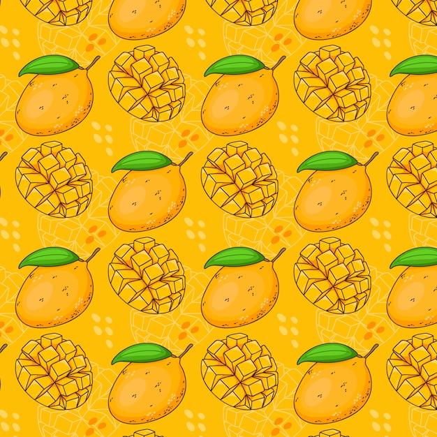 Wzór Z Mango Premium Wektorów