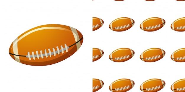 Wzór Z Piłką Rugby Premium Wektorów