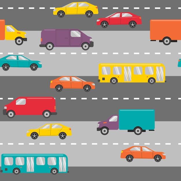Wzór z samochodami Premium Wektorów