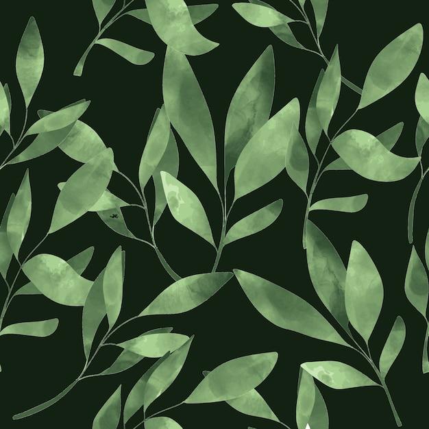 Wzór zielony liść Premium Wektorów
