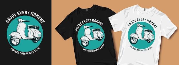 Wzory Koszulek Motocyklowych W Stylu Vintage Premium Wektorów