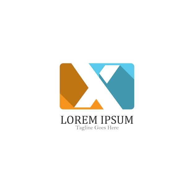 X Listu Loga Szablonu Ikony Ilustracyjny Projekt Premium Wektorów
