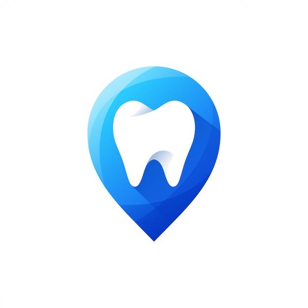 Ząb logo projekt ilustracji wektorowych Premium Wektorów