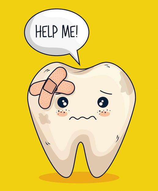 Ząb Wspomagający Pielęgnację I Higienę Darmowych Wektorów
