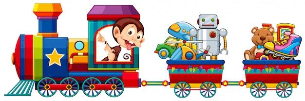Zabawki w pociągu Darmowych Wektorów