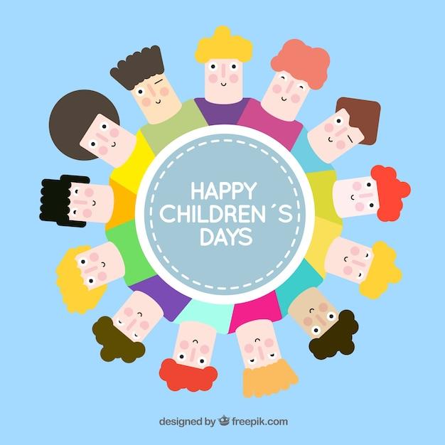 Zabawna ilustracji Dzień Dziecka Darmowych Wektorów