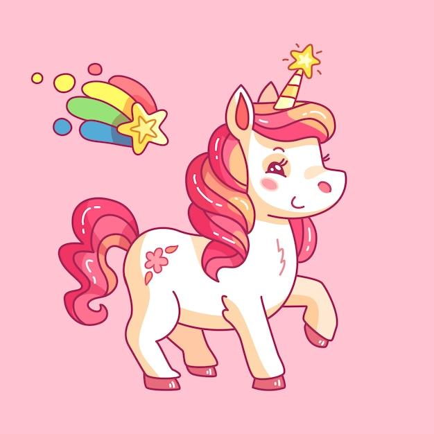 Zabawny Koń Dziewczęcy Tło Premium Wektorów