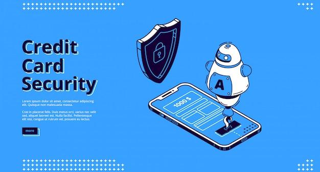 Zabezpieczenia Karty Kredytowej Telefonu I Robota Darmowych Wektorów
