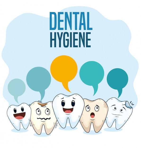 Zabiegi Higieny Jamy Ustnej Za Pomocą Profesjonalnej Medycyny Darmowych Wektorów