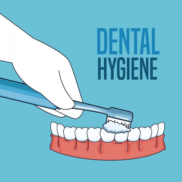 Zabiegi Higieny Zębów Za Pomocą Narzędzia Do Szczoteczki Do Zębów Darmowych Wektorów