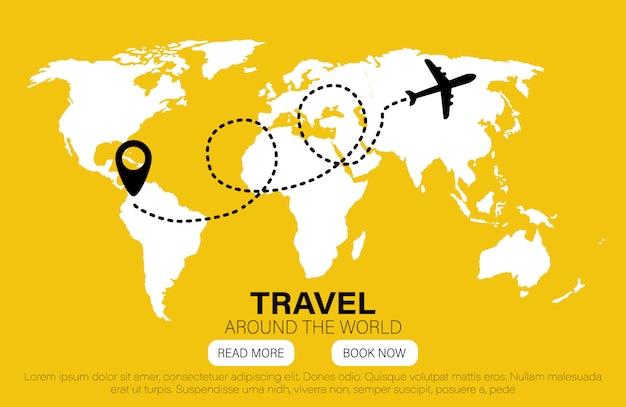 Zabytki Na Całym świecie. Podróż Do świata. Mieszkanie Premium Wektorów