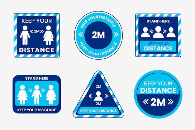 Zachowaj Motyw Pakietu Znaku Odległości Darmowych Wektorów