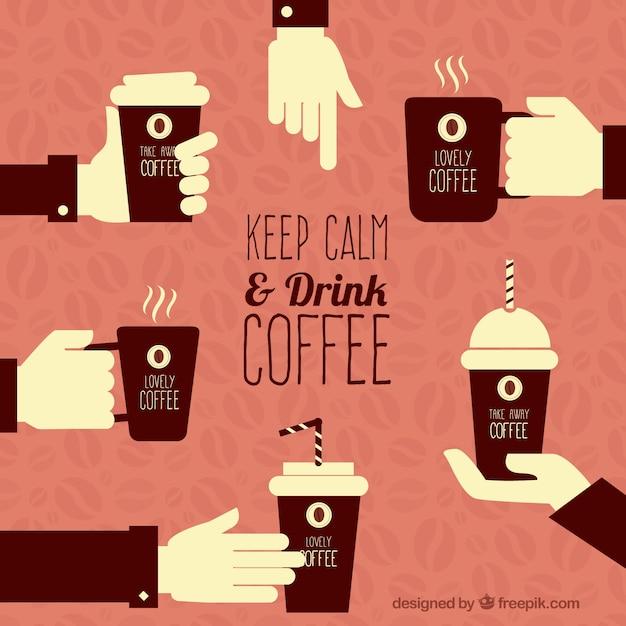 Zachowaj spokój i nie pić kawy Darmowych Wektorów