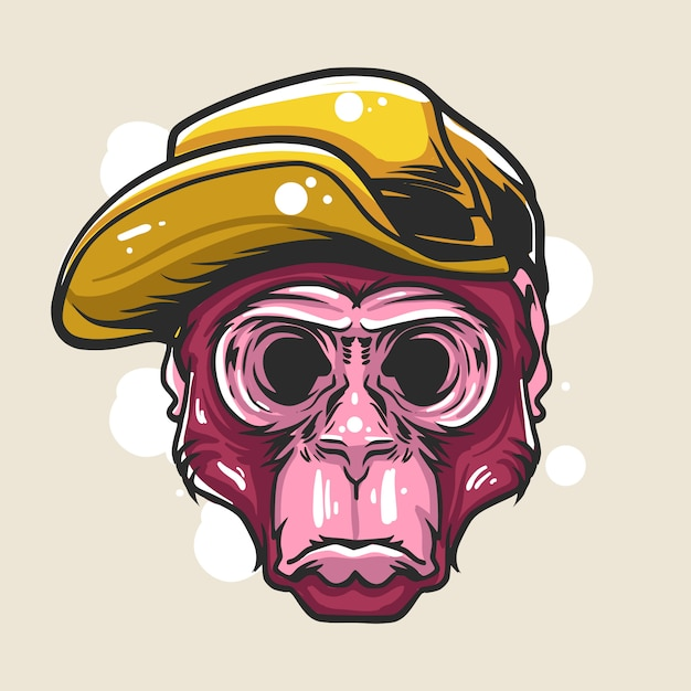 Zaciemnienie Hype Małpa Ilustracji Premium Wektorów