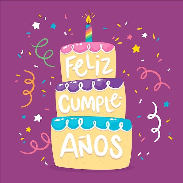 Zadowolony Urodziny Napis Projekt Darmowych Wektorów