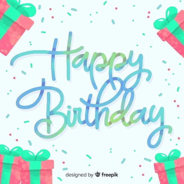 Zadowolony Urodziny Napis Tło Projektu Darmowych Wektorów