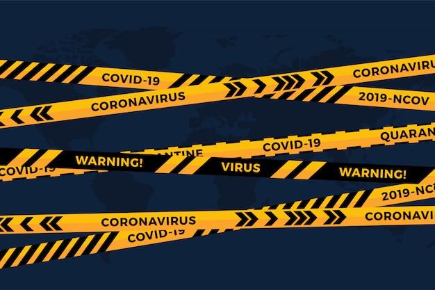 Zagrożenie Biologiczne żółta Czarna Taśma Na Białym Papierze Wyciąć Mapę świata. Wstążka Ogrodzeniowa Bezpieczeństwa. światowa Grypa Kwarantannowa. Ostrzeżenie Przed Niebezpieczeństwem Grypy. Globalny Pandemiczny Koronawirus Covid-19 Premium Wektorów