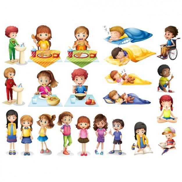 Zajęcia Dla Dzieci Kolekcja Premium Wektorów