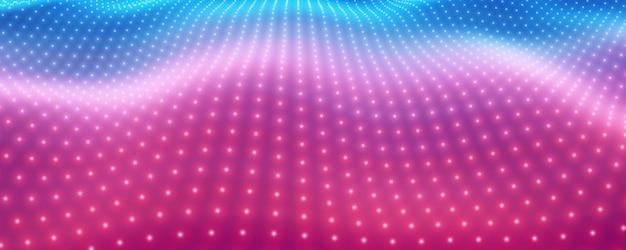 Zakrzywiona Siatka Big Data W Kolorze Różowym I Niebieskim Darmowych Wektorów
