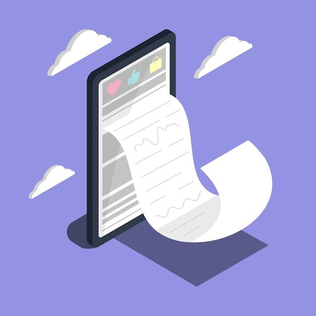 Zakupy Internetowe. Duży Cyfrowy Marketing I E-commerce Na Smartfony Premium Wektorów