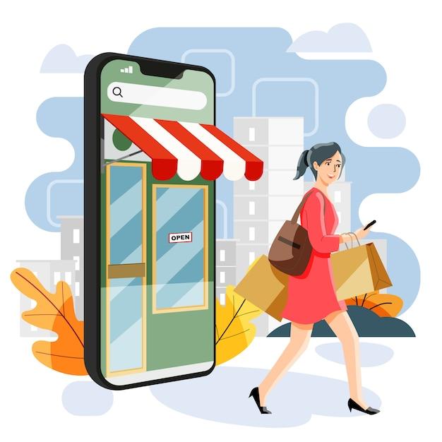 Zakupy Internetowe Premium Wektorów