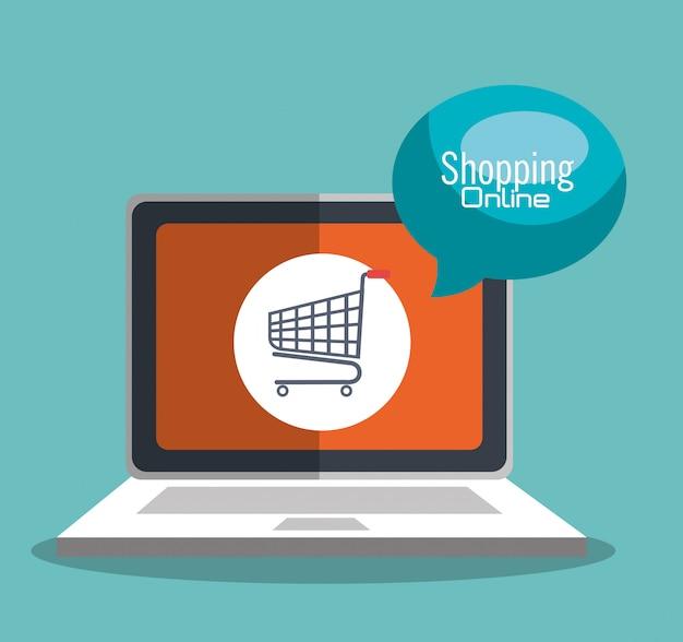 Zakupy internetowe Darmowych Wektorów