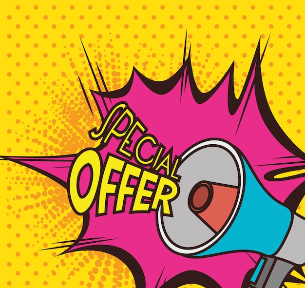 Zakupy ofert specjalnych Premium Wektorów