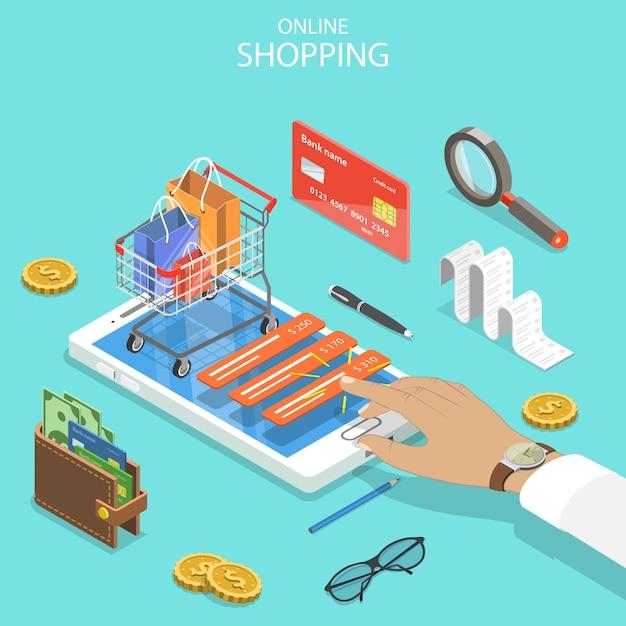 Zakupy Online, Handel Elektroniczny, Płatności Mobilne. Premium Wektorów