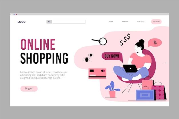 Zakupy Online - Landing Page Darmowych Wektorów