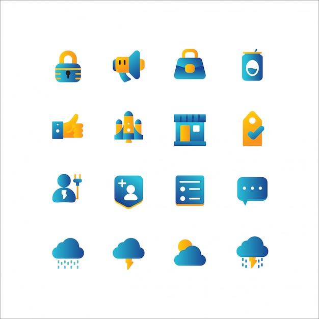 Zakupy Online, Zestaw Ikon E-commerce Premium Wektorów