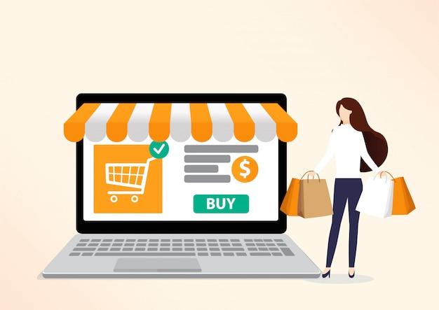 Zakupy online . Premium Wektorów