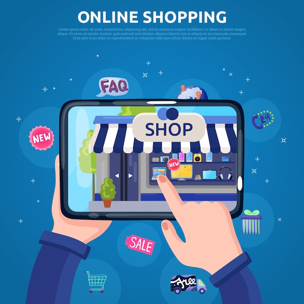 Zakupy online Darmowych Wektorów