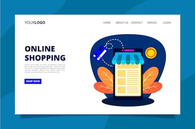 Zakupy Strony Docelowej Online Darmowych Wektorów