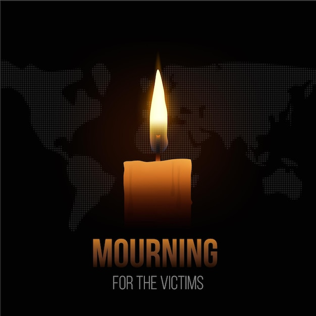 Żałoba Za Ofiary Darmowych Wektorów
