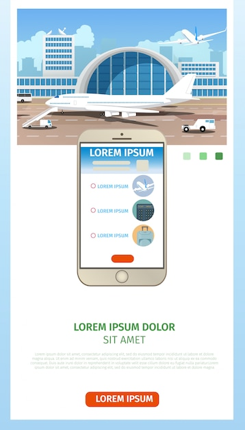 Zamawianie Biletów Lotniczych Strona Internetowa Cartoon Wektor Darmowych Wektorów