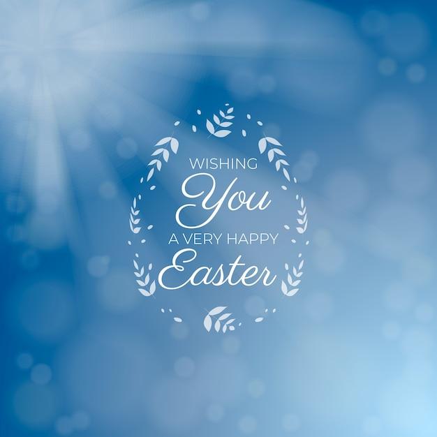 Zamazany Szczęśliwy Easter Dnia Tło Darmowych Wektorów