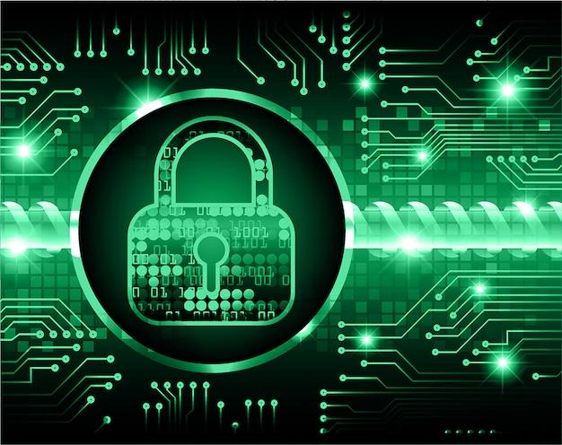 Zamknięta Kłódka Na Cyfrowym Tle, Cyberbezpieczeństwo Dla Pliku Jpeg Premium Wektorów